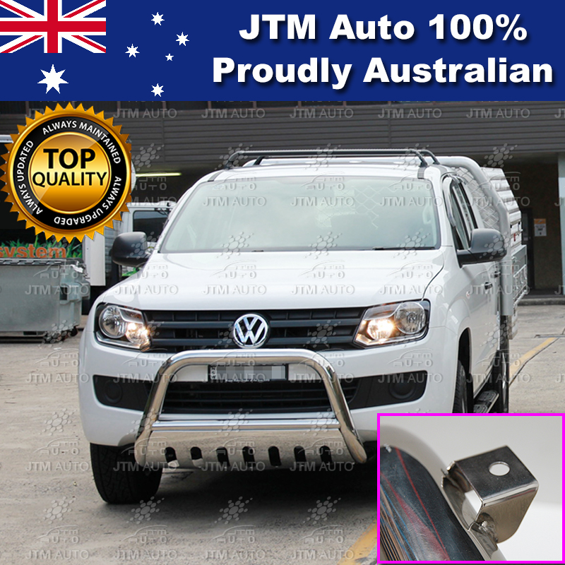 "Nudge Bar 3"" Stainless Steel Grille Guard Suits Volkswagen VW Amarok 2010-2017"