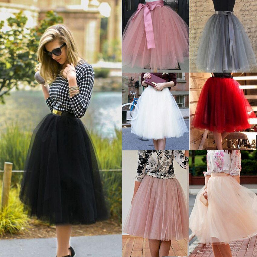 Women Kids Girls Tulle Tutu Skirt Wedding Prom Party Evening Cocktail Mini Dress