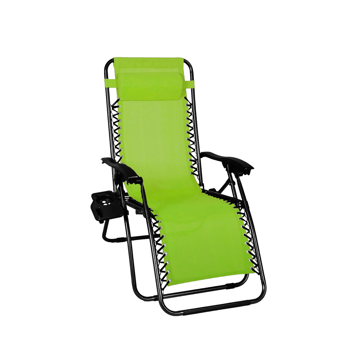 Folding Zero Gravity Reclining Lounge Chair Utility Tray