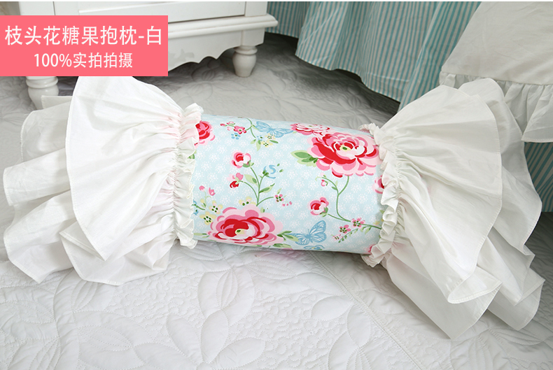 Shabby Chic Cottage Girl Princess Floral Bolster Candy Throw Pillow Cushion A eBay