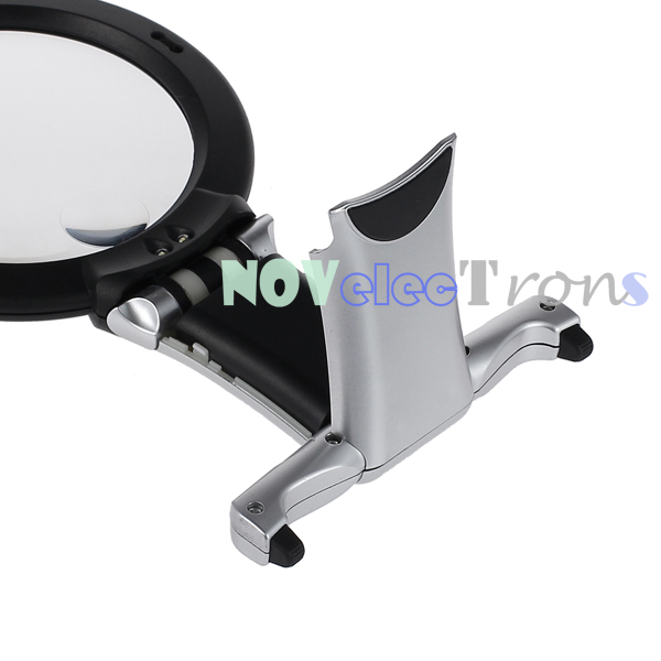 large magnifying glass handsfree with light led lamp giant magnifier. Black Bedroom Furniture Sets. Home Design Ideas