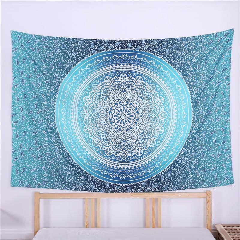 Summer Square Beach Towel Mandala Floral Print Swimming