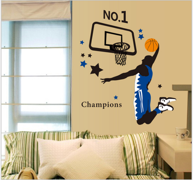 Play Basketball Wall Sticker BOY Vinyl Decor Kids Room Sports Home ...