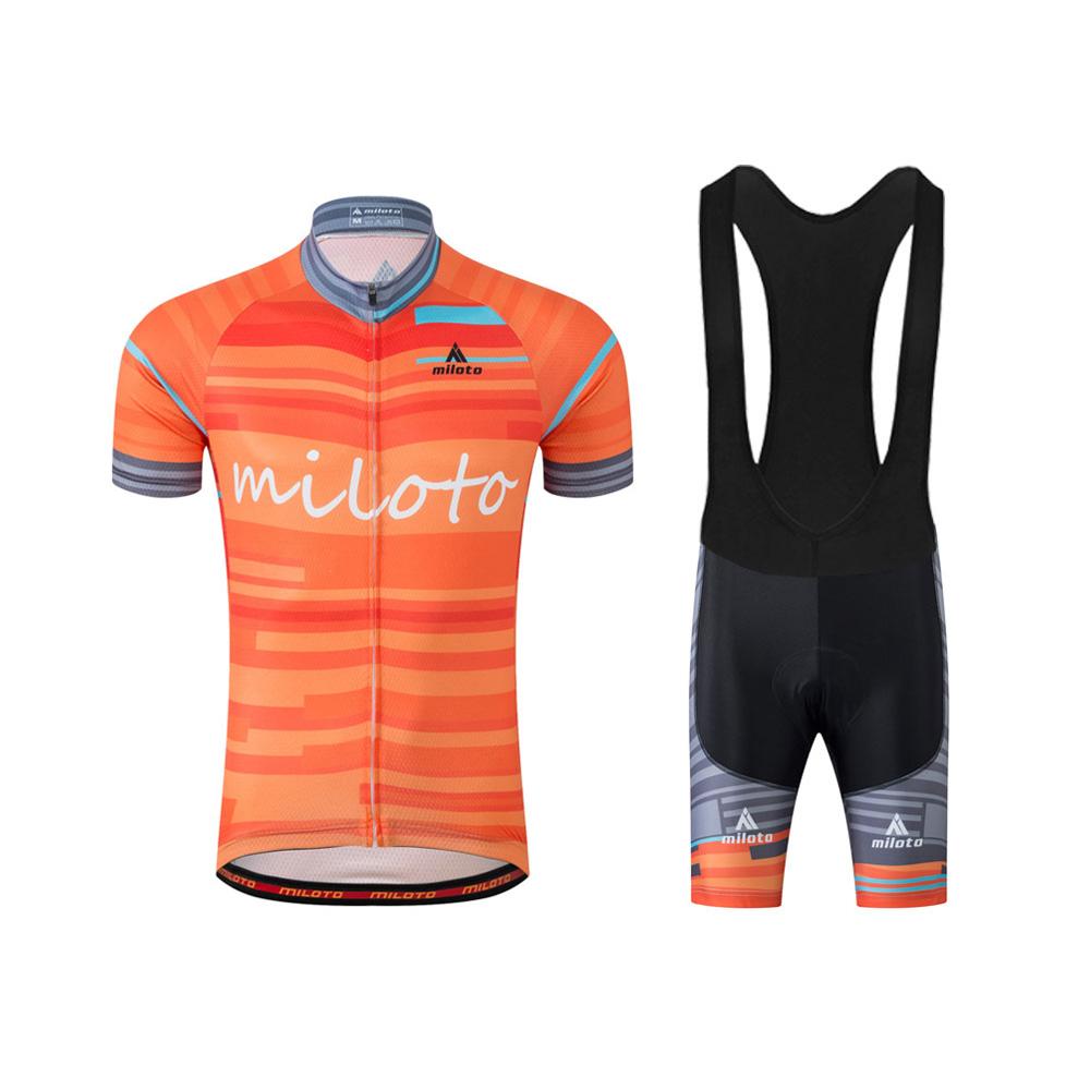Men 39 S Orange Cycling Jersey And Spandex Bib Shorts Bicycle Clothing Kit S 5xl Ebay