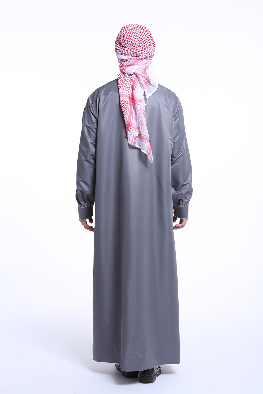 Men Dubai Clothes Muslim Thobe Abaya Robe Dishdasha