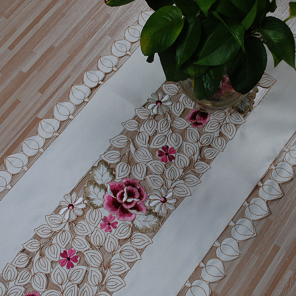 Yazi embroidery rose tablecloth doily rectangle wedding