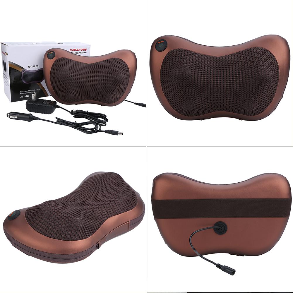 elektrische massage kissen f r nacken r cken muskelentspannung mit w rmefunktion ebay. Black Bedroom Furniture Sets. Home Design Ideas