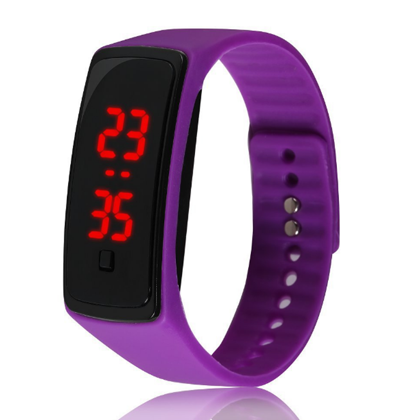 fashion men women rubber band led digital wrist watch. Black Bedroom Furniture Sets. Home Design Ideas
