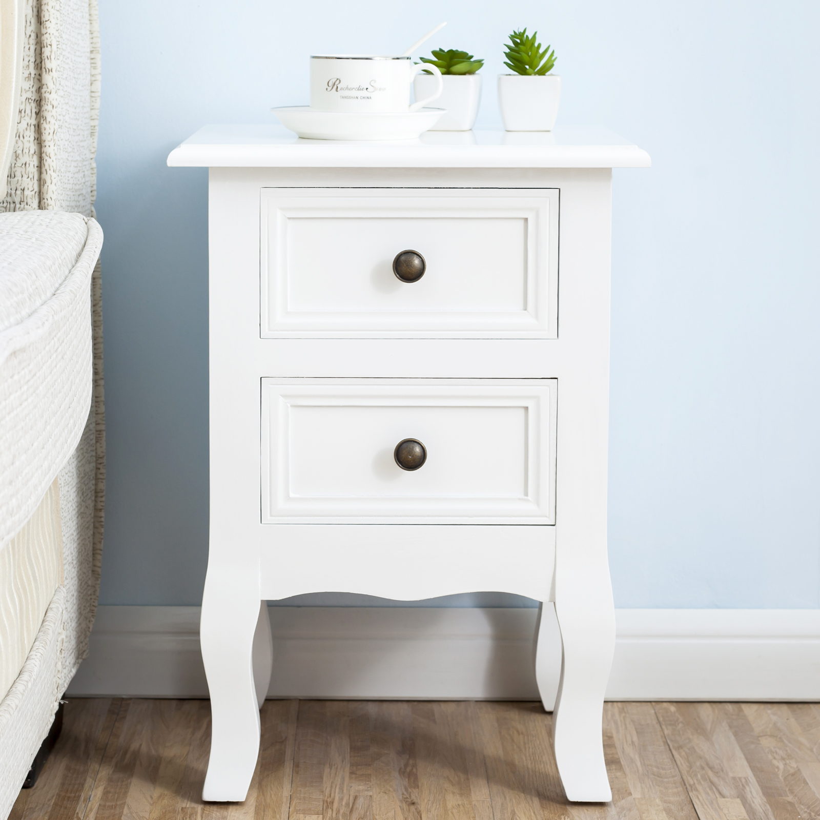 white dresser and nightstand white nightstand set 2 bedside end table pair shabby 17831