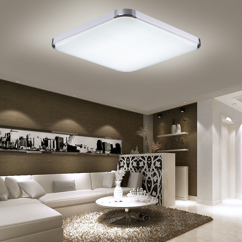 12w 96w panel led deckenlampe deckenleuchte flurleuchte. Black Bedroom Furniture Sets. Home Design Ideas