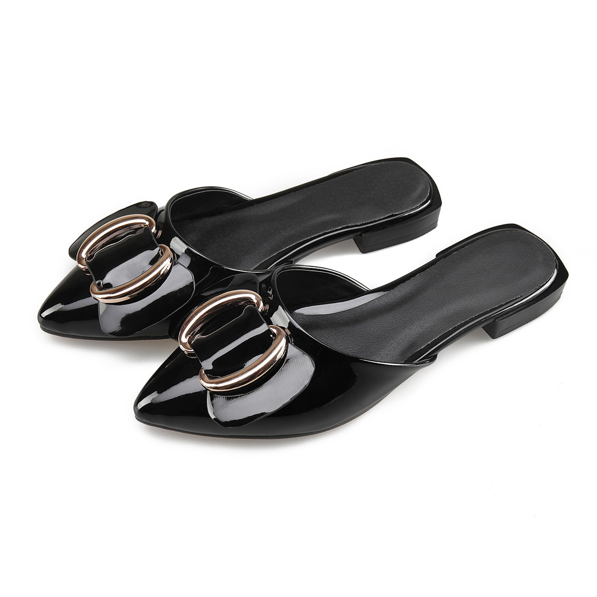 Summer Women Slingback Flats Pointed Toe Bowtie Flat Shoes ...