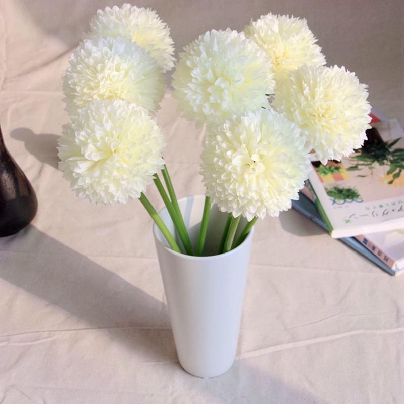 Diy Bridal Wedding Party Bouquet Silk Flowers Fake Hydrangea Floral