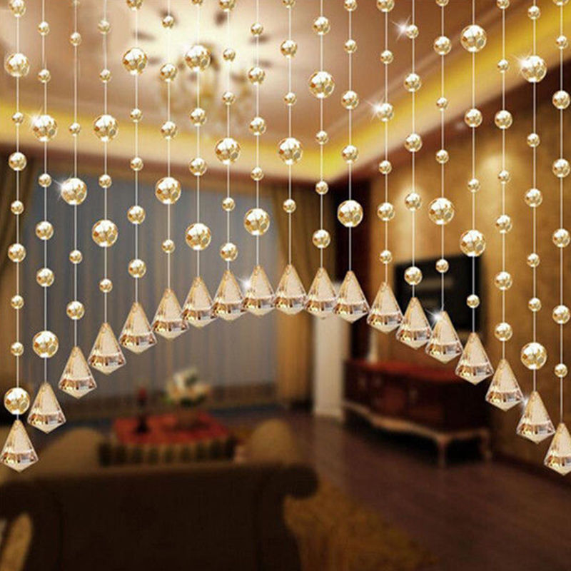 Fashion 1 Meters Glass Beads Drapes Partitio Wedding