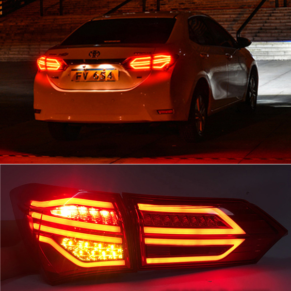 Toyota Corolla Le Eco: Bright Red LED Strip Tail Lights Lamp For TOYOTA Corolla