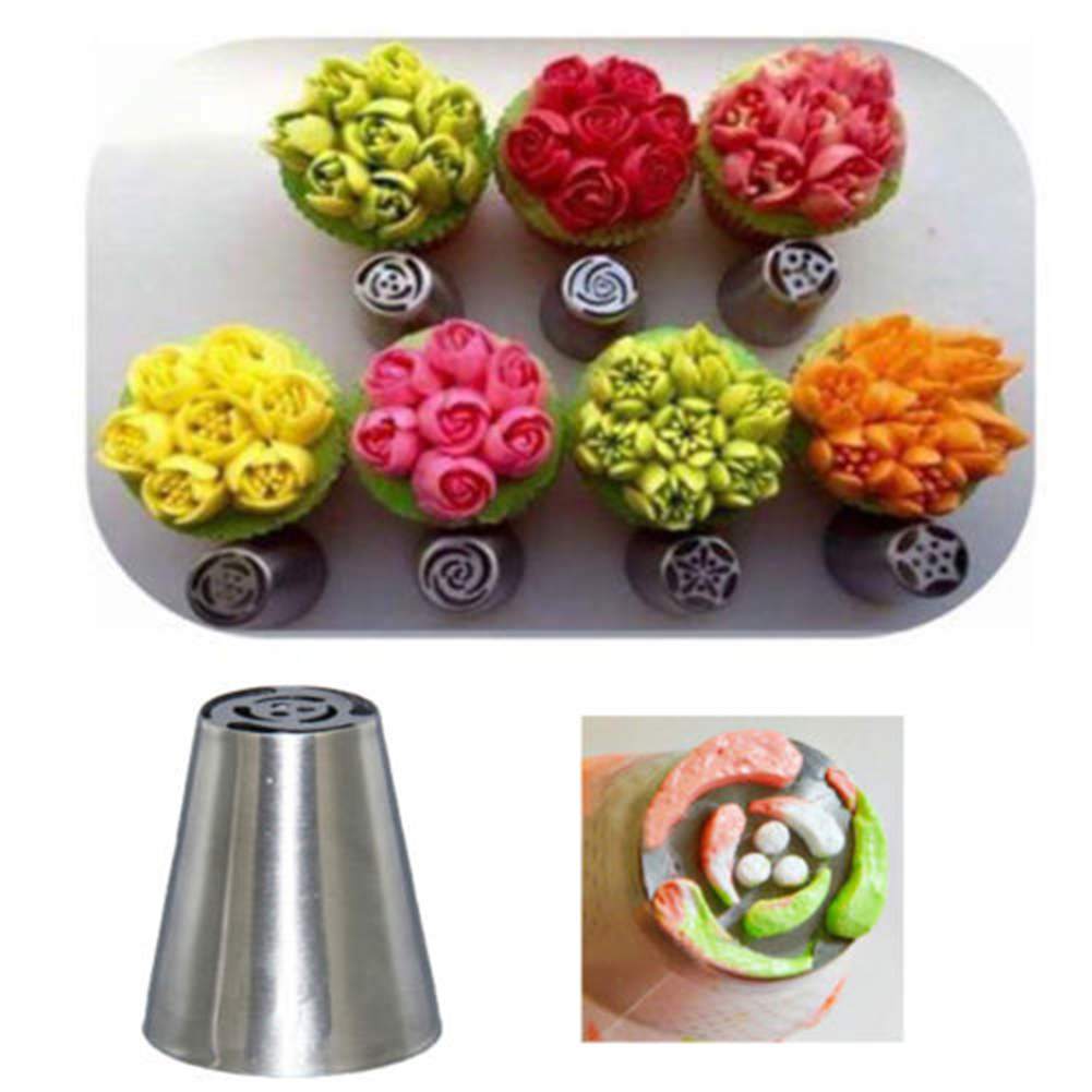 7Pcs Russian Tulip Flower Cake Icing Piping Nozzles
