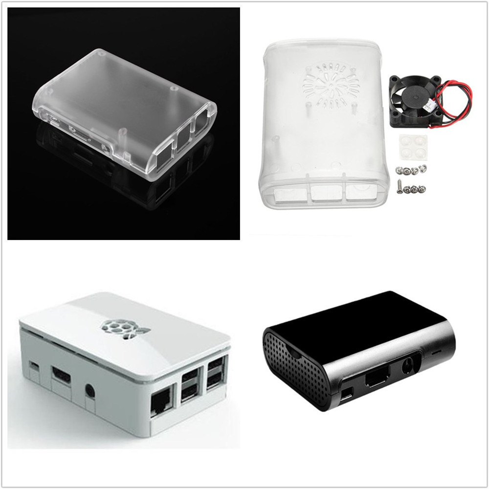 V1 5PCS Black ABS Protective Enclosure Case Box For Computer Raspberry Pi 2 B//B