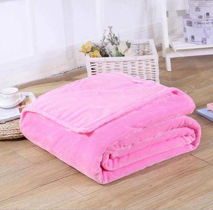 New Super Soft Rug Sofa Bedding Warm Solid Warm Micro