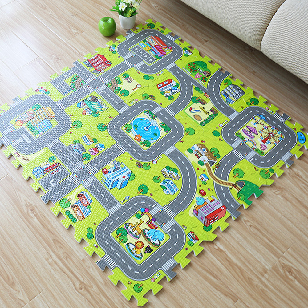 9pcs Eva Foam Exercise Floor Mat Gym Soft Puzzle