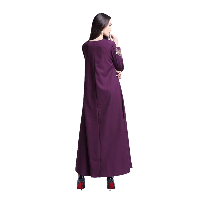 Kaftan Women Dresses Abaya Jilbab Muslim Long Sleeve Cocktail Arab ...