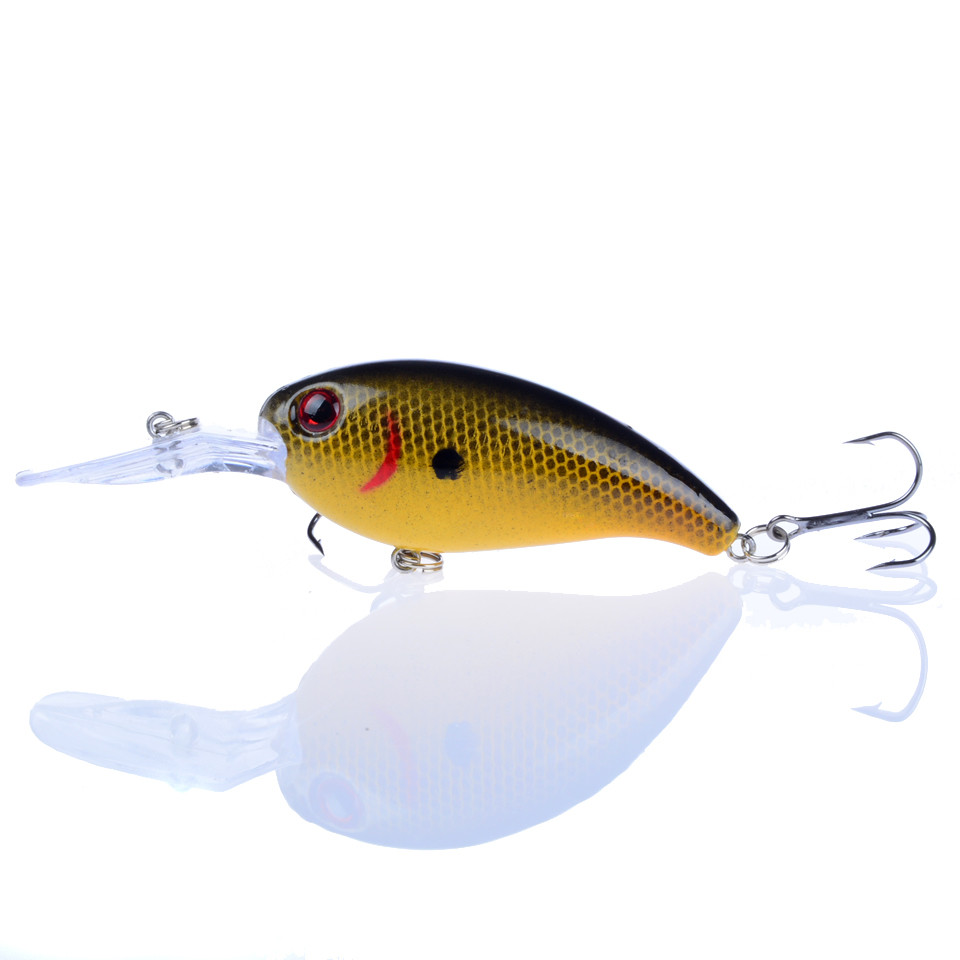 1pcs fishing lures 10cm 15g hard baits bass crankbait for Bass fishing lures