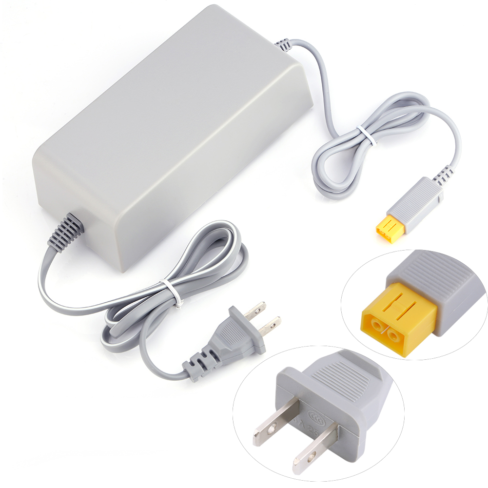 New us plug ac adapter power supply wall charger for for Wii u tablet charger