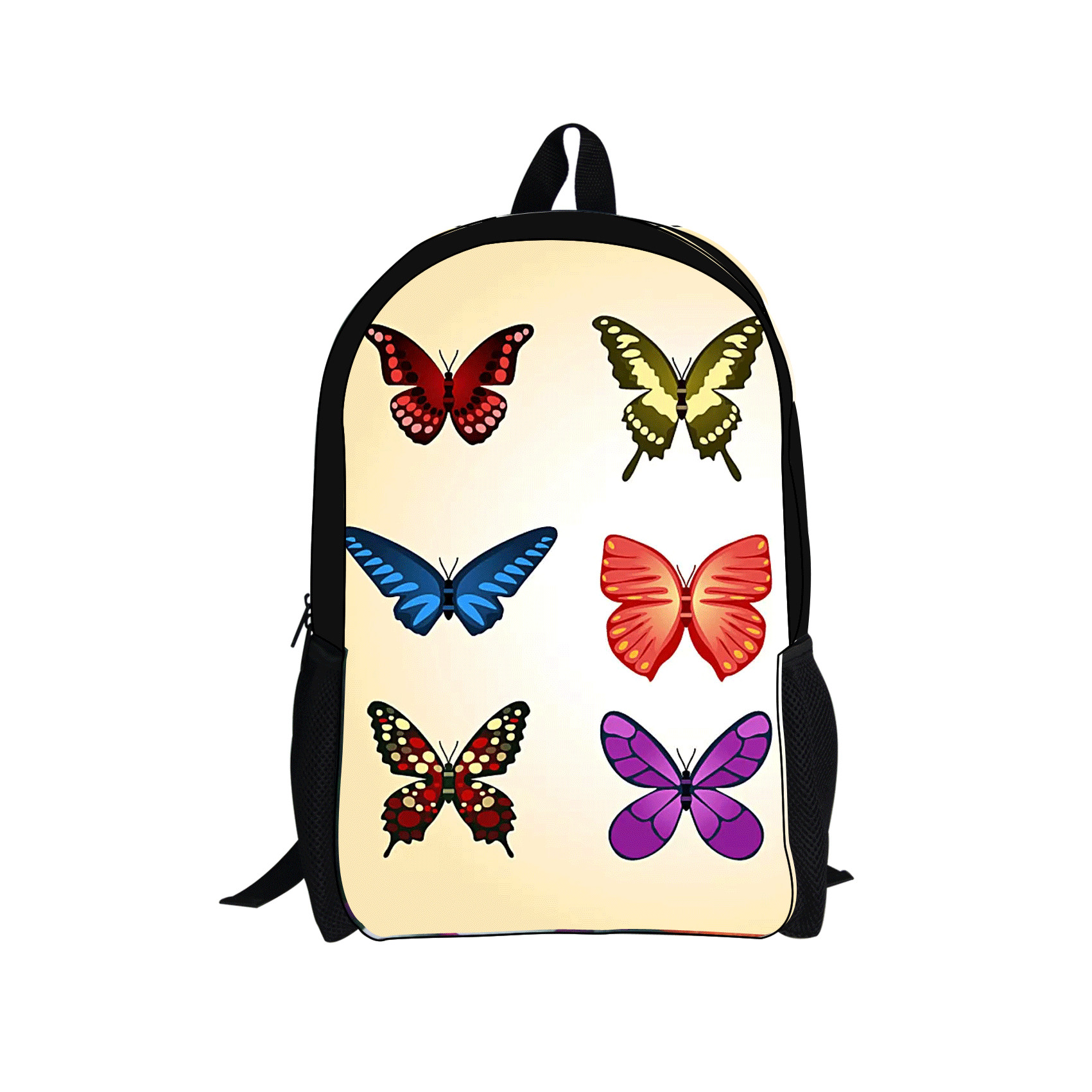 butterfly vintage backpack floral school bags girl women kids mochilas bookbags