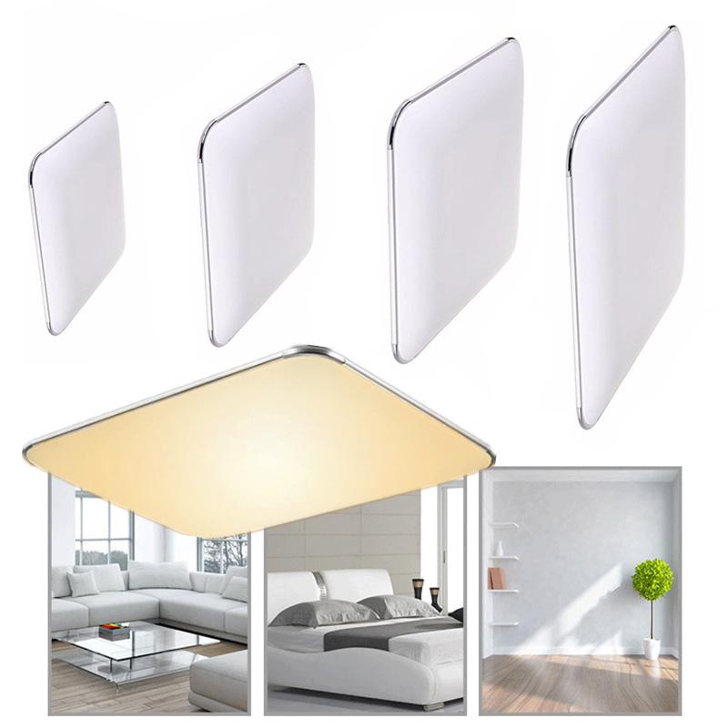 LED Ultraslim Deckenleuchte Silber Wohnzimmer Deckenlampe Dimmbar