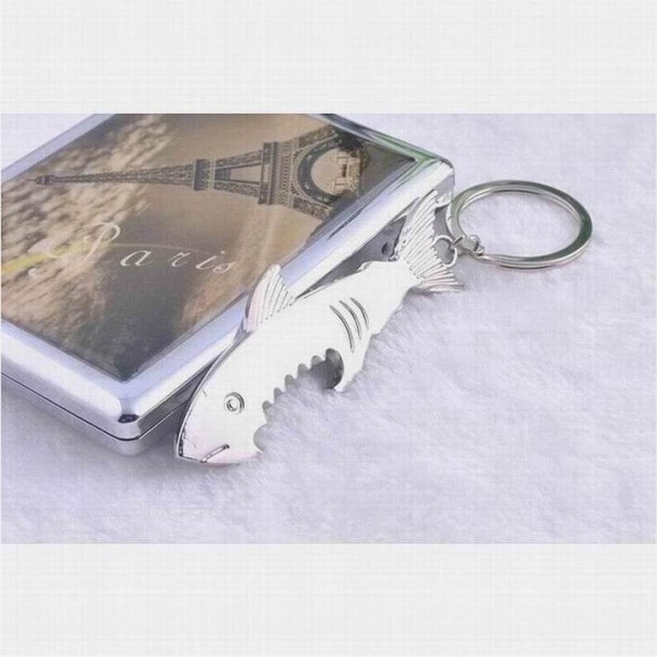 popular multifuction shark beer bottle metal opener key chain ring keyring cad picclick ca. Black Bedroom Furniture Sets. Home Design Ideas