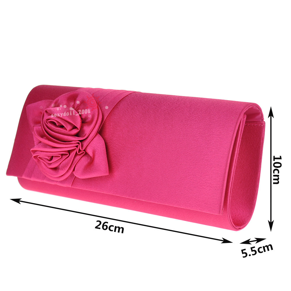 UK Wedding Women Evening Satin Envelope Floral Party Prom Clutch Bag Handbag | EBay