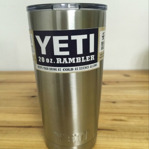 20oz Stainless Steel Yeti Rambler Tumbler Cooler Insulated
