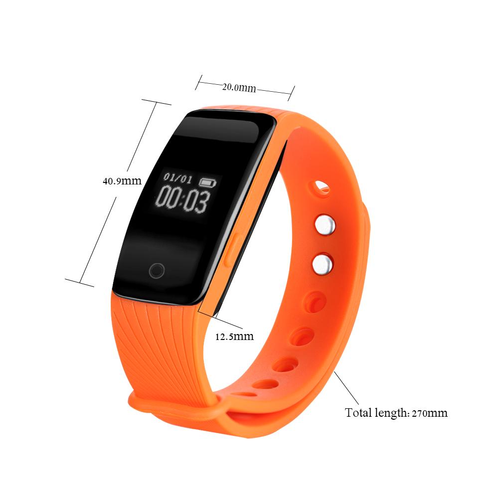 Bluetooth Health Wristband Sports Fitness Tracker Sleep ...