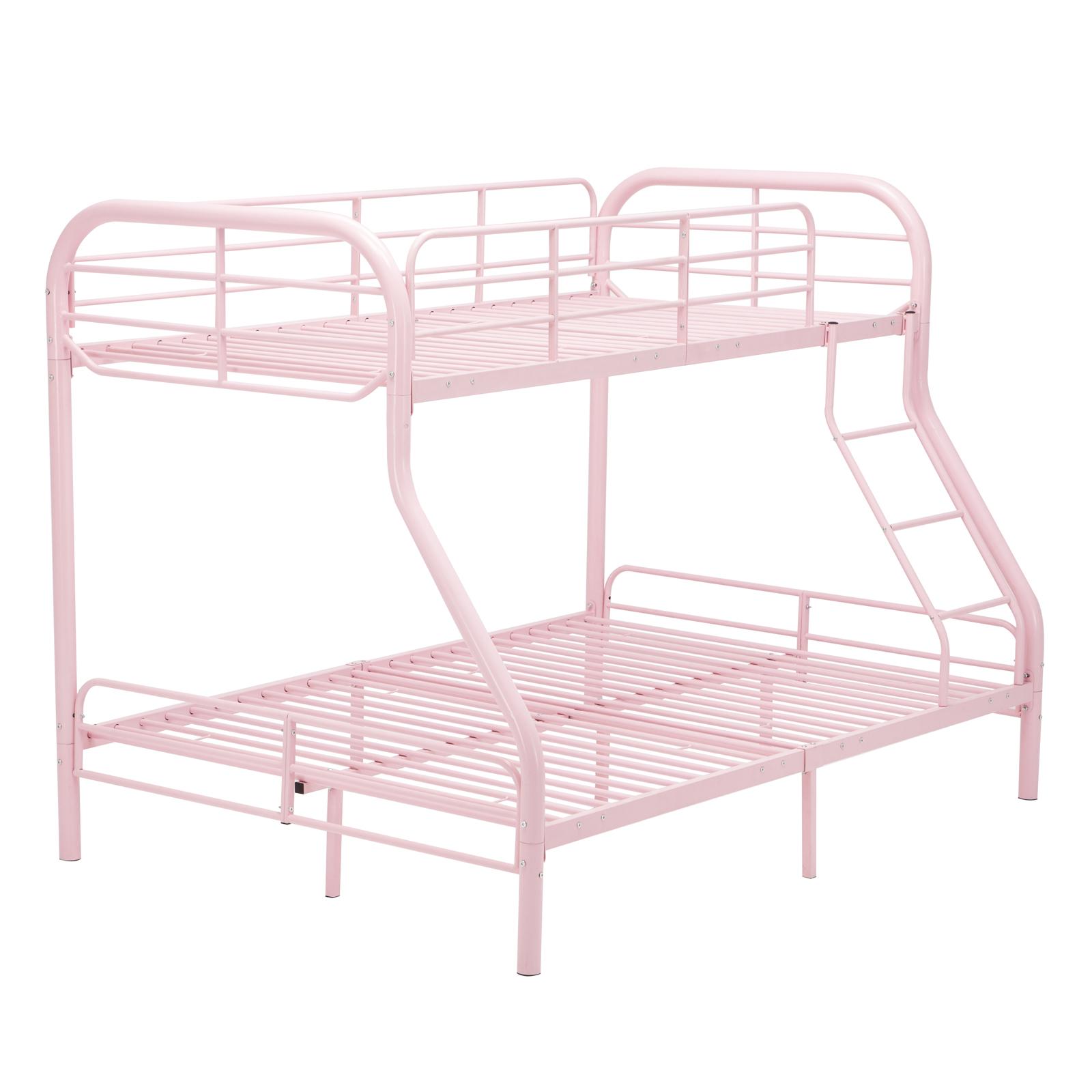 Twin over Full Bunk Bed Metal Ladder Kid Teen Dorm Loft