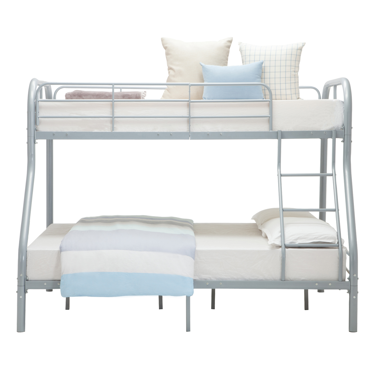 Metal Twin Over Full Beds Bunk Teens Kids Dorm Bedroom Sliver Furniture W Ladder Ebay