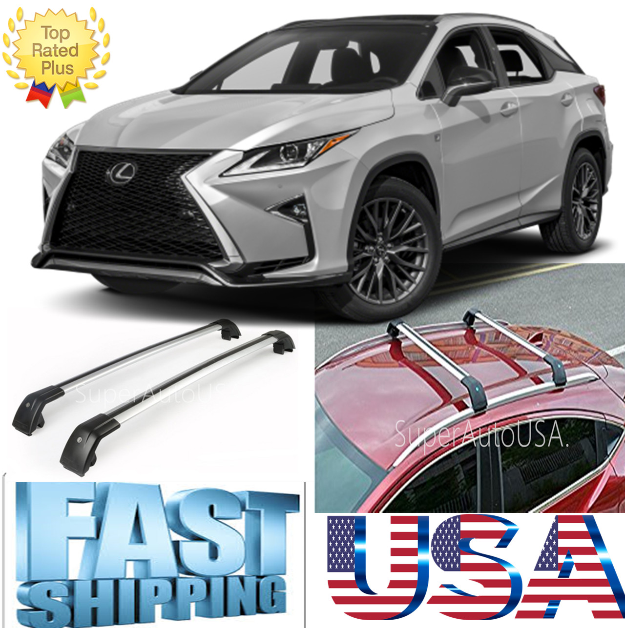 Toyota Carrier Sub Assy Rr Partnumber 4230520240: Top Roof Rack For LEXUS RX350/F Sport/HYBRID Baggage