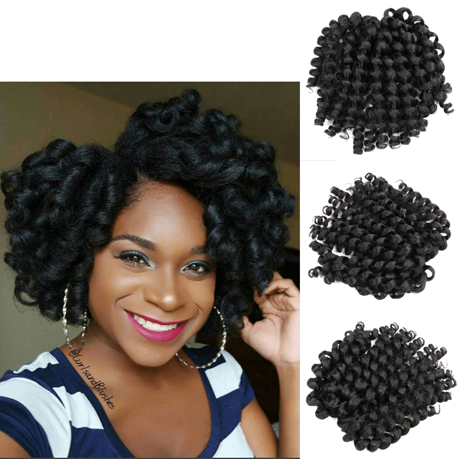 7 Color Jumpy Wand Curl Twist Crochet Braids Synthetic