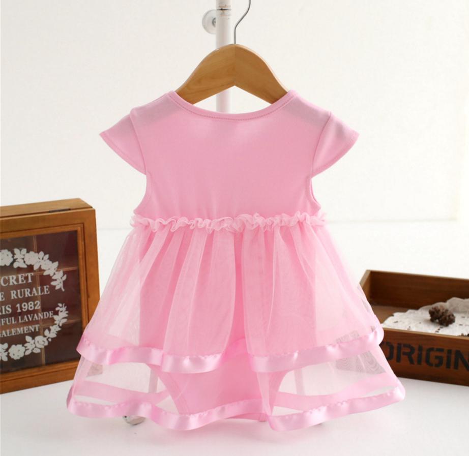 d0169028e7e4 1pc Toddler Baby girl Kids Clothes summer cotton bodysuit baby ...