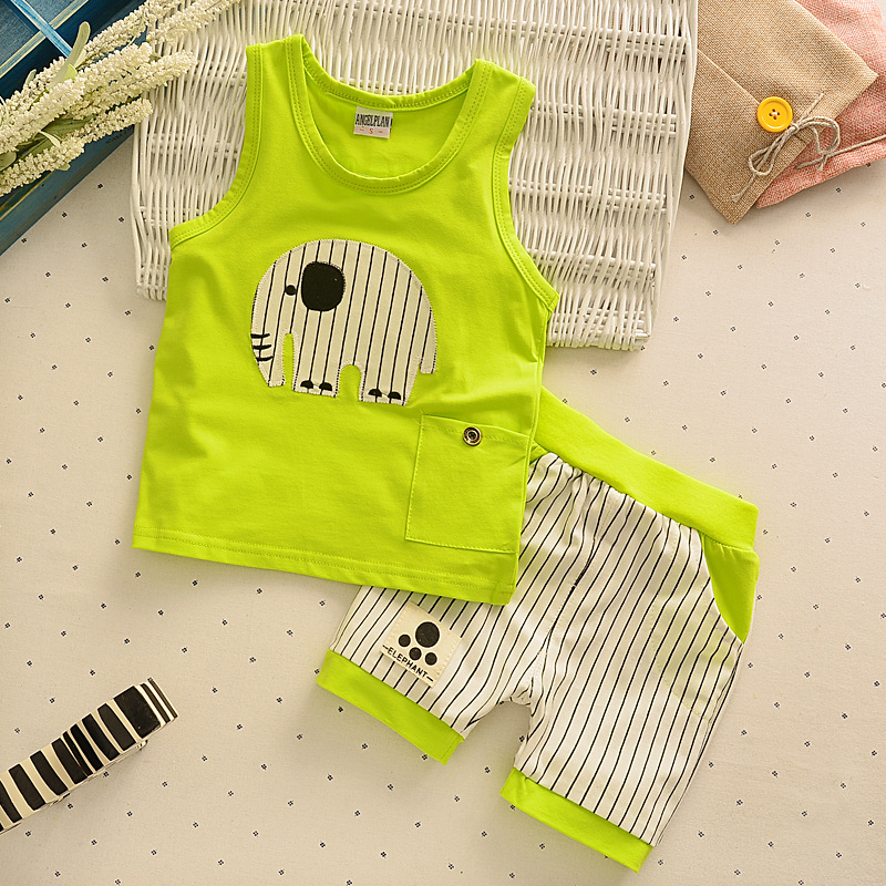 cfcb6728a71e Baby clothes infant kids baby boys summer cotton top tee+short pants ...