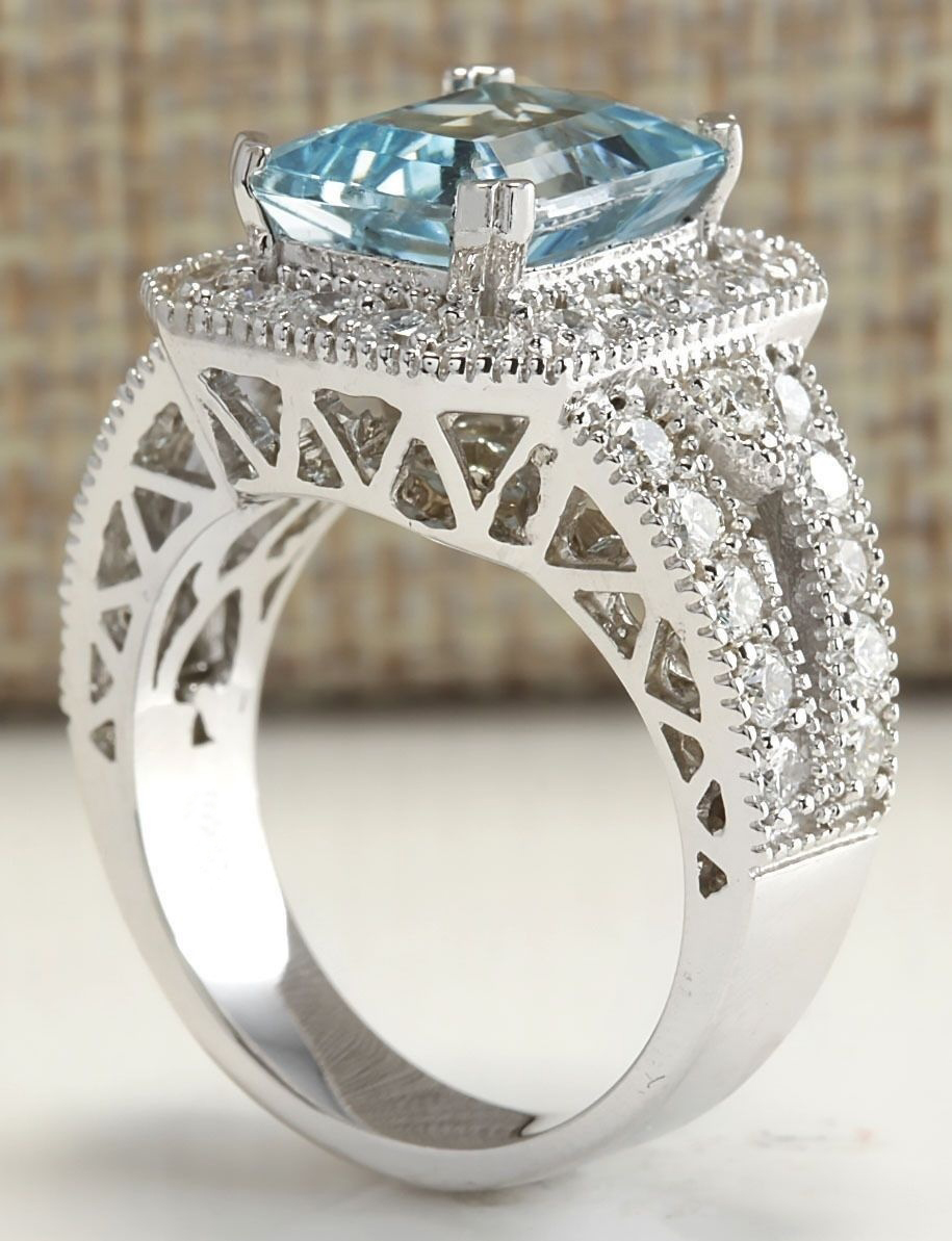 charming jewelry 925 silver aquamarine ruby gem ring women. Black Bedroom Furniture Sets. Home Design Ideas