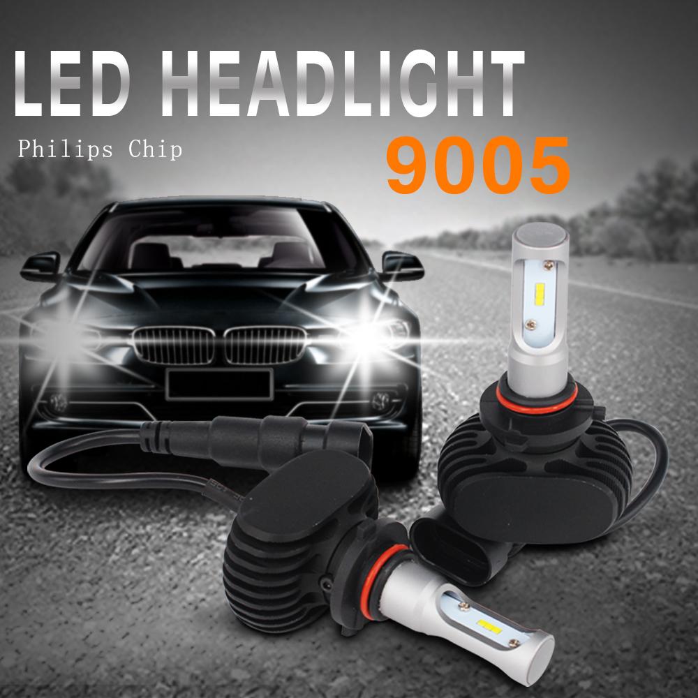 combo philips 100w 16000lm 9005 h11 led headlight kit high. Black Bedroom Furniture Sets. Home Design Ideas