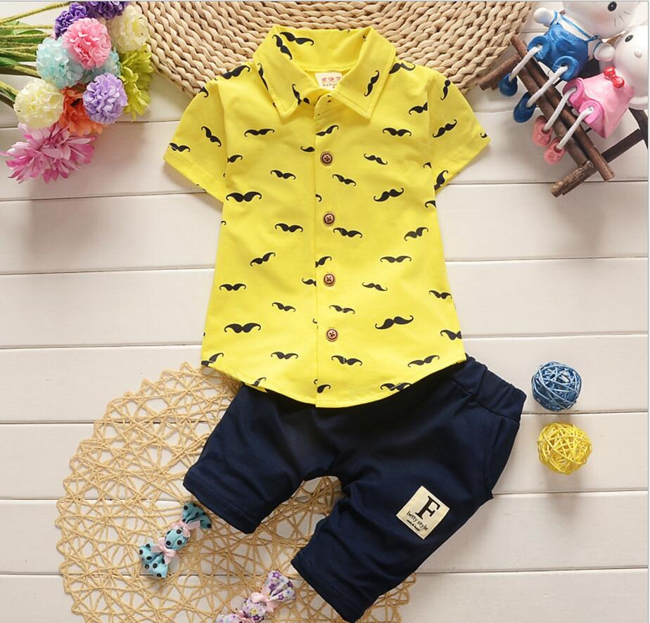2pc Baby clothes kids boys cotton summer top Tee+short ...