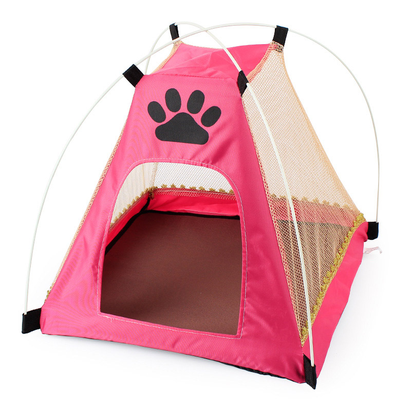 oxford pet dog tent foldable pet tent house breathable summer puppy house. Black Bedroom Furniture Sets. Home Design Ideas