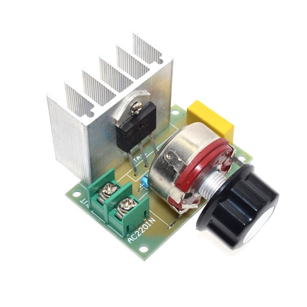 200v 4000w Scr Dimmer Speed Controller Temperature Voltage Regulator Protection Circuit For Thyristor Images Board It Is Safety And Reliable To Cope With Large Current Double Capacity Design Capacitor Metal Film Protect