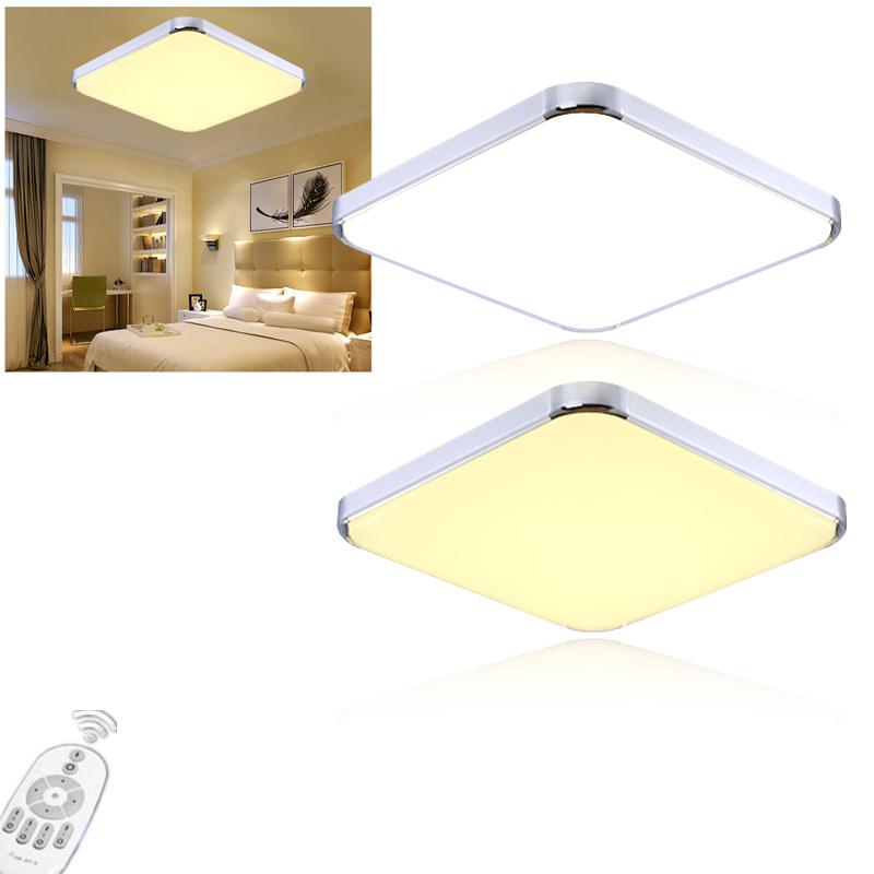 64w led deckenleuchte dimmbar deckenlampe wohnzimmer k che design wandlampe ebay. Black Bedroom Furniture Sets. Home Design Ideas