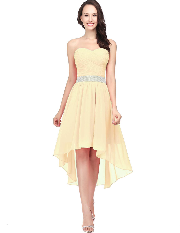 Plus Size 2 26W Women s High Low Dresses Bridesmaid Formal