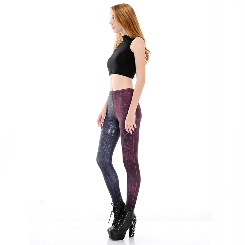 Women Fashion 3D Digital Print Tight Leggings Female
