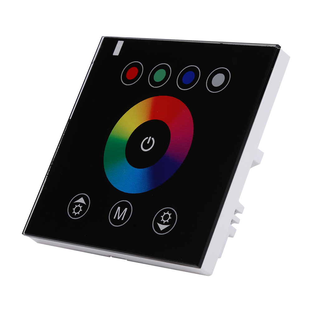 Led Strip Light Wall Dimmer: Wall-Mounted Touch Panel RGB Dimmer Controller For LED