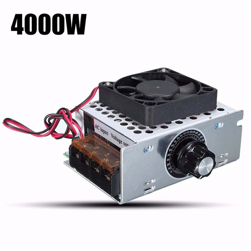 220v 4000w Scr Motor Speed Controller Module Voltage Regulator Case High Power Alarm Driver Circuit Design Maximum Output 0 220vcan Adjust Potentiometer To Be 0v Regulation Ac After Opening From About 10v