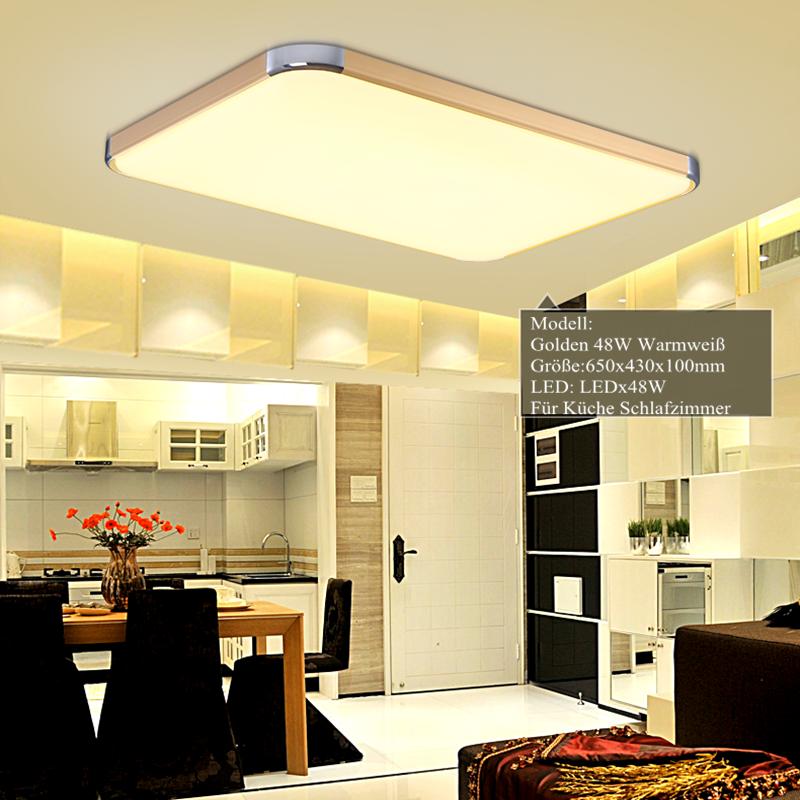 48w led deckenleuchte deckenlampe warmwei design lampe for Deckenleuchte wohnzimmer design