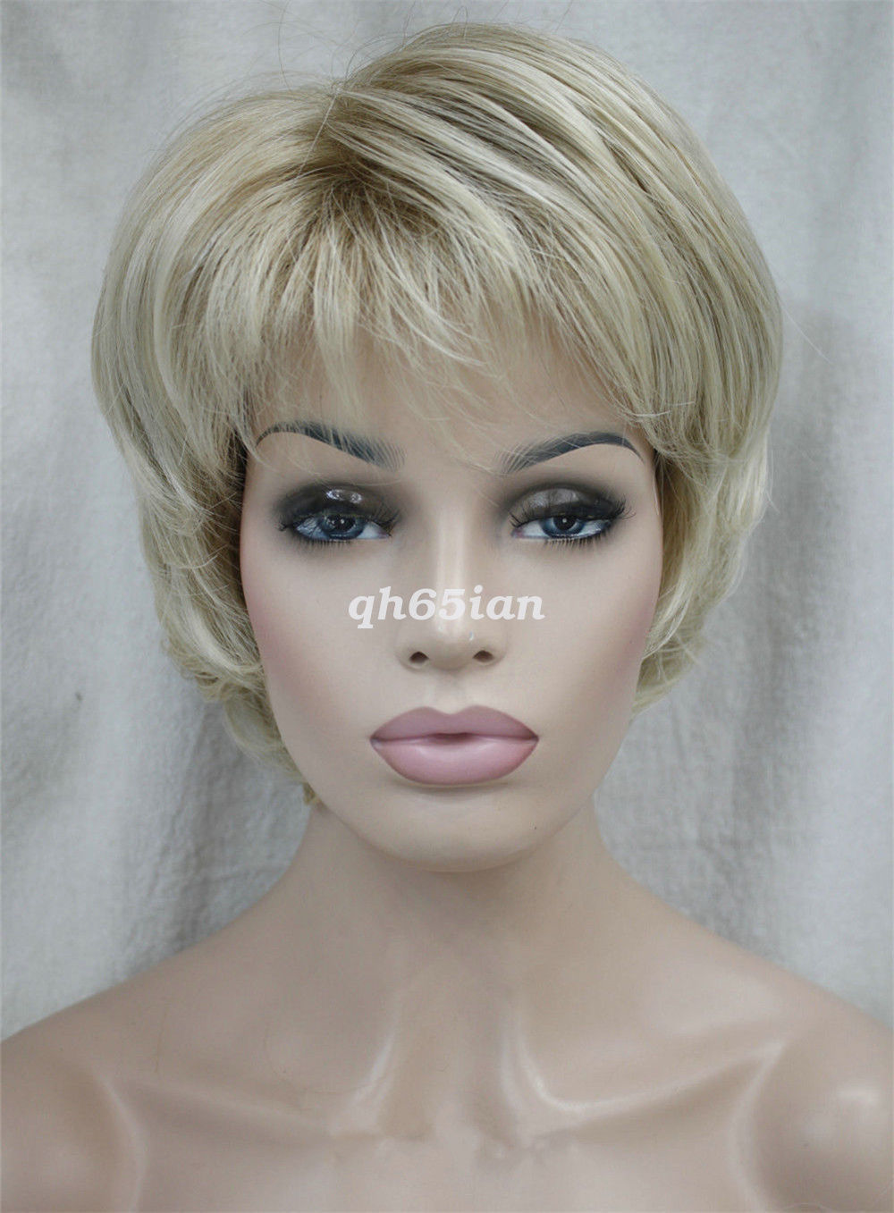 Ladies wig straight women short natural hair cosplay wigs for Onorevoli donne