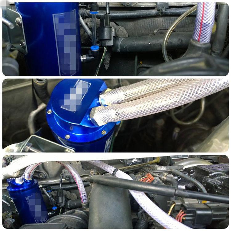 Universal Turbo Kit 4 Cylinder: BLUE Oil Catch Reservoir Tank Can Breather Kit Turbo